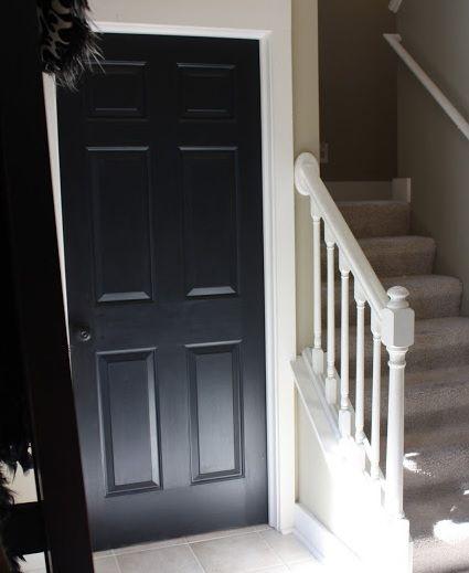 Black Painted Six Panel Interior Doors For Bedroom Home Doors