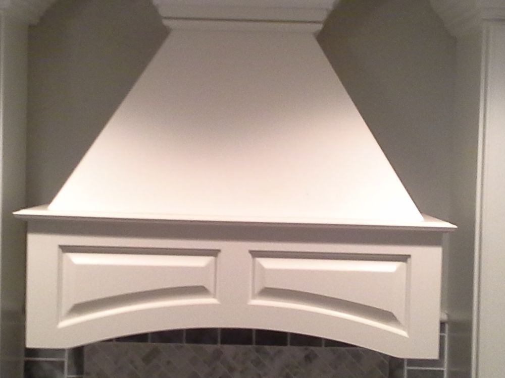 30 Inch White Wood Range Hood For The Kitchen