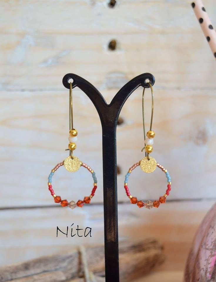 Boucles d'oreilles Nita, collection Navajo- L'Atelier des Misstinguettes avignon