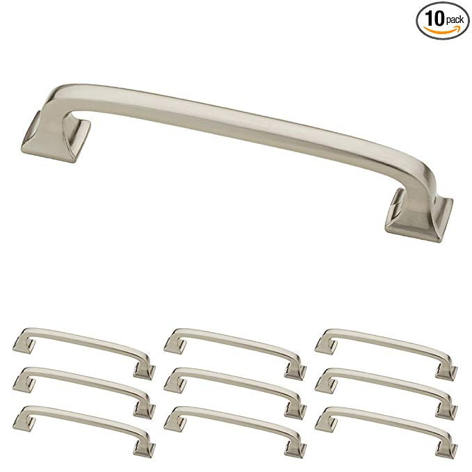 Franklin Brass P29613k Sn B 4 102mm Square Feet Pull 4 Inch 10 Piece Brushed Nickel 10 Amazon Com Franklin Brass Cabinet Hardware Drawer Hardware 4 inch cup drawer pulls