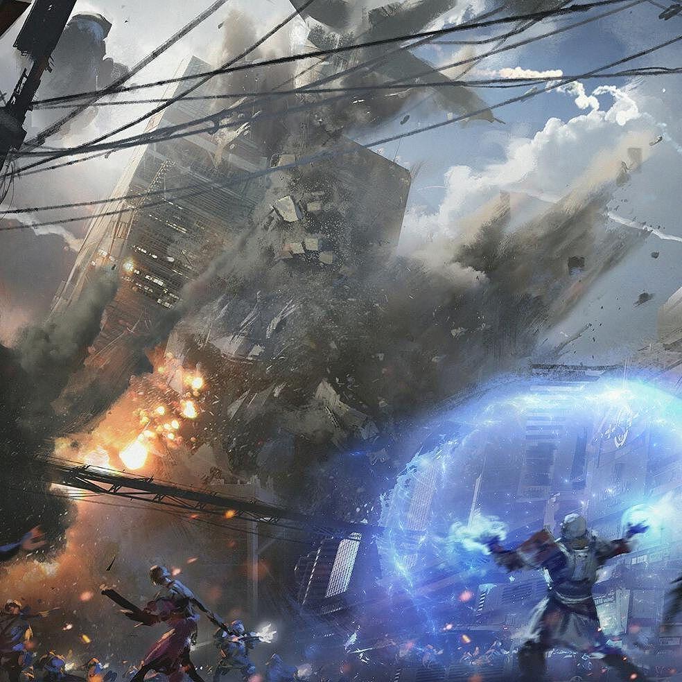 Destiny 2 Cinematic #1 falling tower By Darek Zabrocki