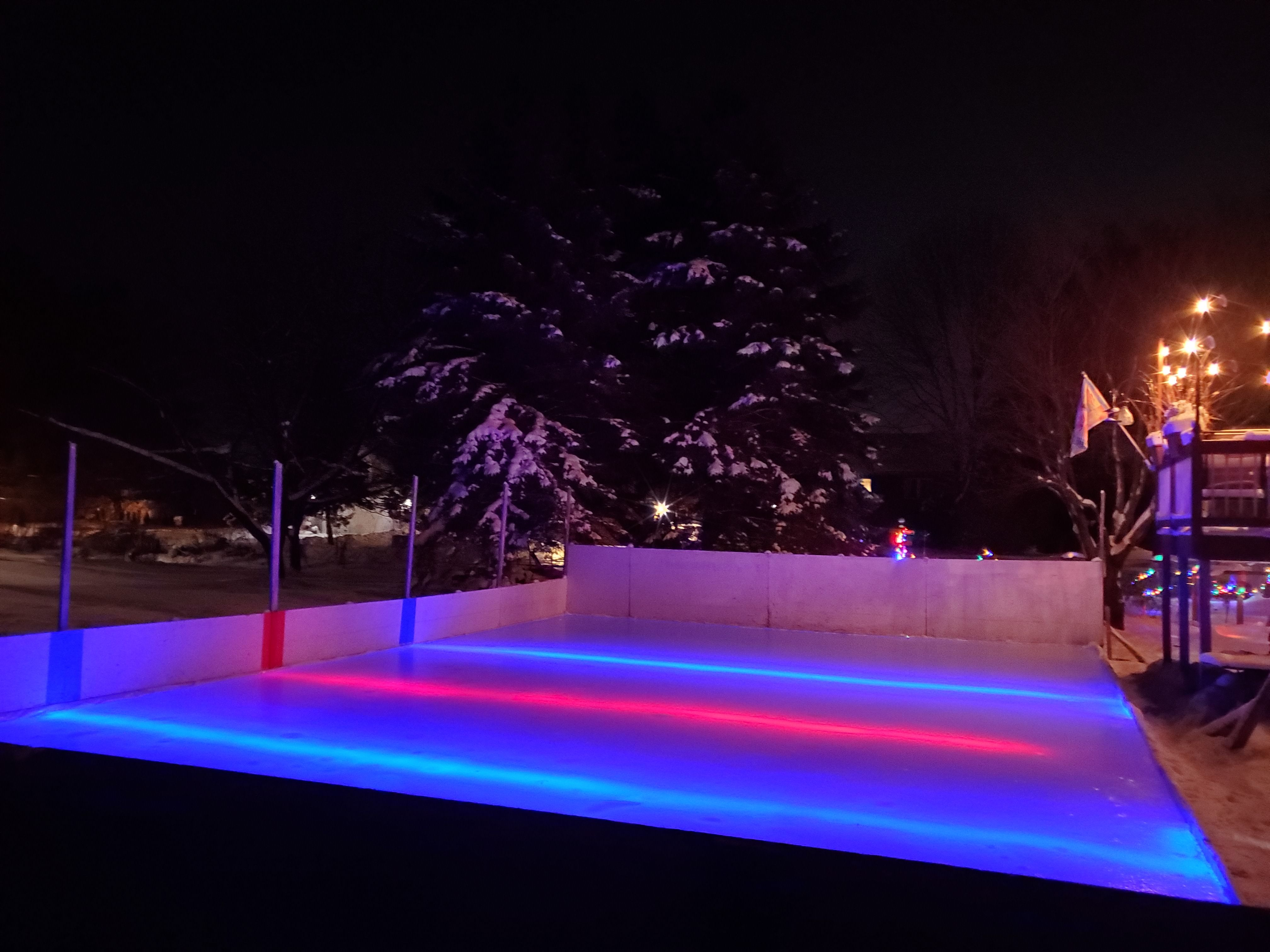 Pin By Nicerink Com On Under Ice Nicelights Backyard Ice Rink Backyard Hockey Rink Backyard Hockey Backyard ice rink kit reviews