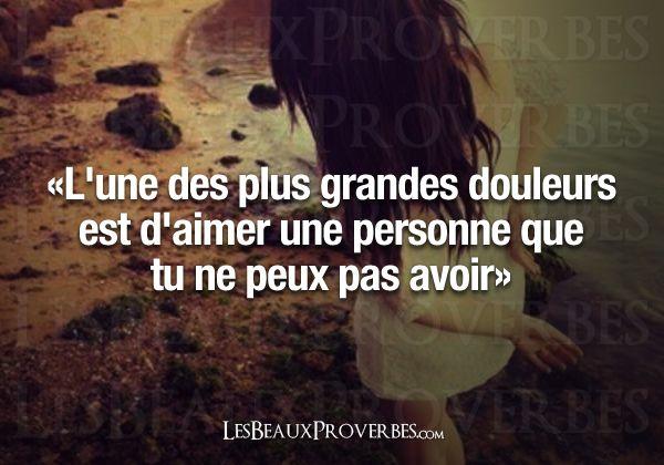 Amour Impossible Pensee Positive Amour Les Beaux Proverbes Citation Amour Impossible