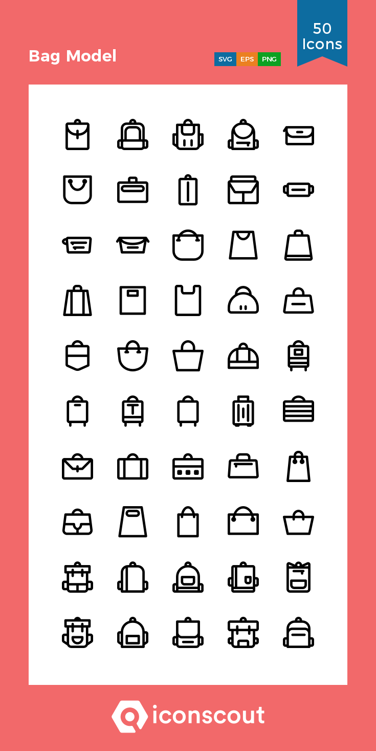 Download Bag Model Icon Pack Available In Svg Png Eps Ai Icon Fonts Icon Pack Icon Tag Template Free