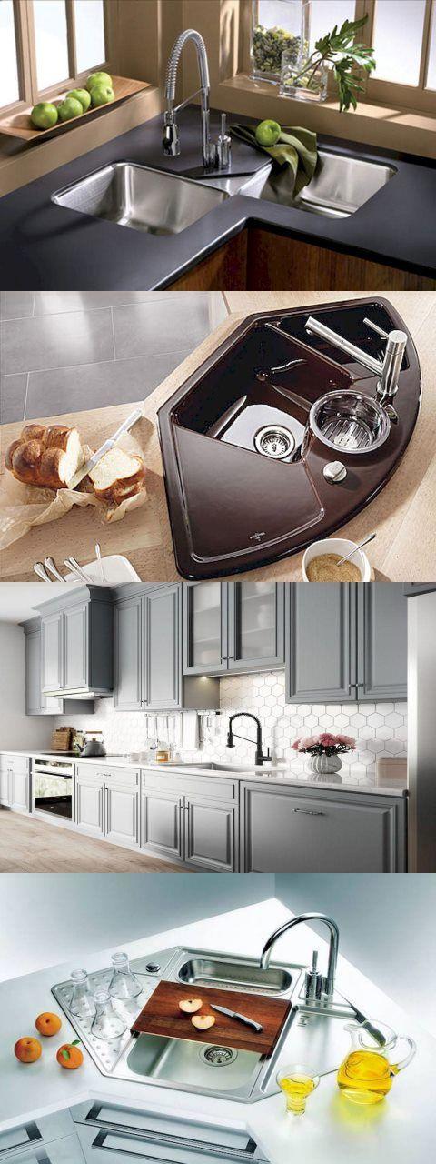 Beautiful Corner Kitchen Sink To Complement Your Design Style Choosing A Corner Kitchen Sink Can Really Add In 2020 U Shaped Kitchen Corner Sink Kitchen Kitchen Design