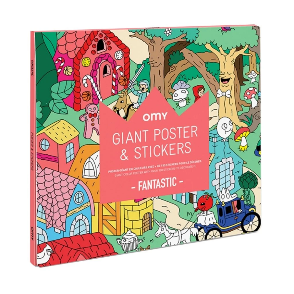Omy Sticker Poster Fantastic Designed And Made In France Mapamundi Kids Giant Poster Poster Stickers Poster