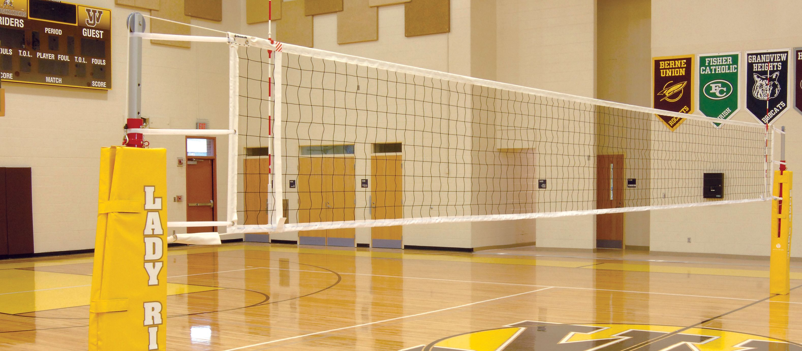 Our Lightweight And Durable Indoor Aluminum Volleyball Net Systems Are Perfect For Elementary Middle School And Cl Volleyball Net Volleyball Indoor Volleyball