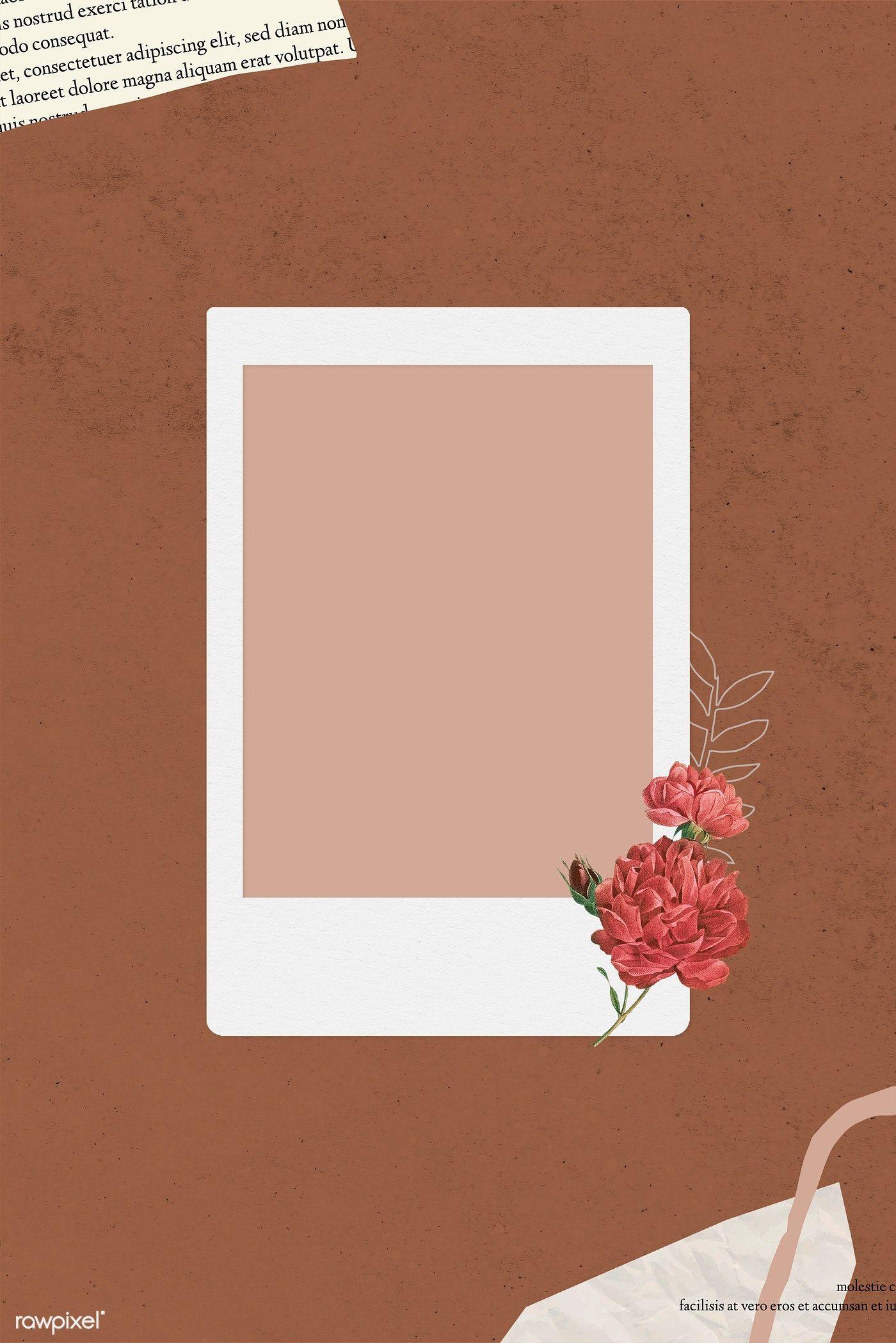 Download Premium Illustration Of Blank Collage Photo Frame Template On Instagram Photo Frame Photo Collage Template Frame Template