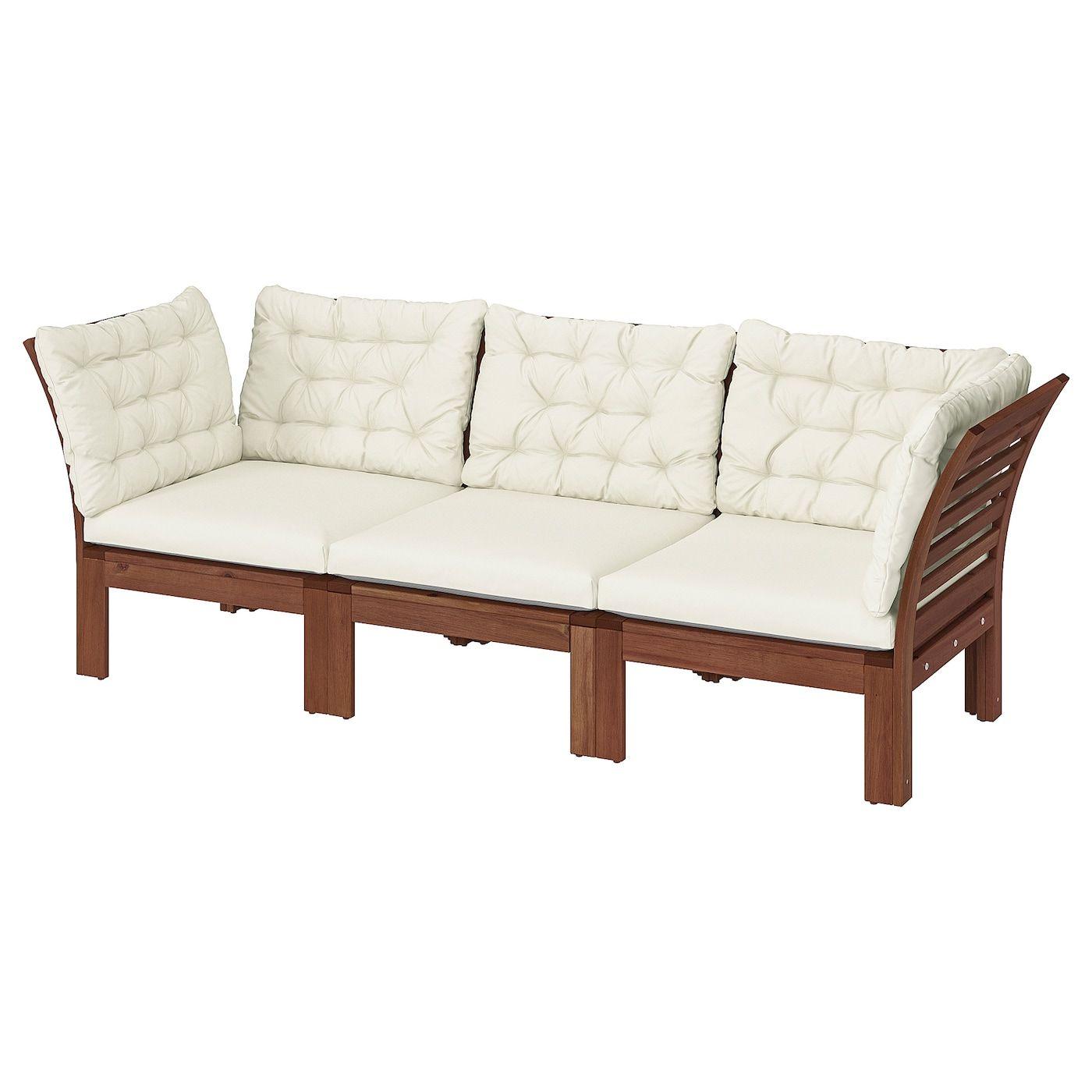 Applaro 3er Sitzelement Aussen Braun Las Kuddarna Beige Ikea Osterreich In 2020 Outdoor Lounge Furniture Modular Sofa Patio Sofa