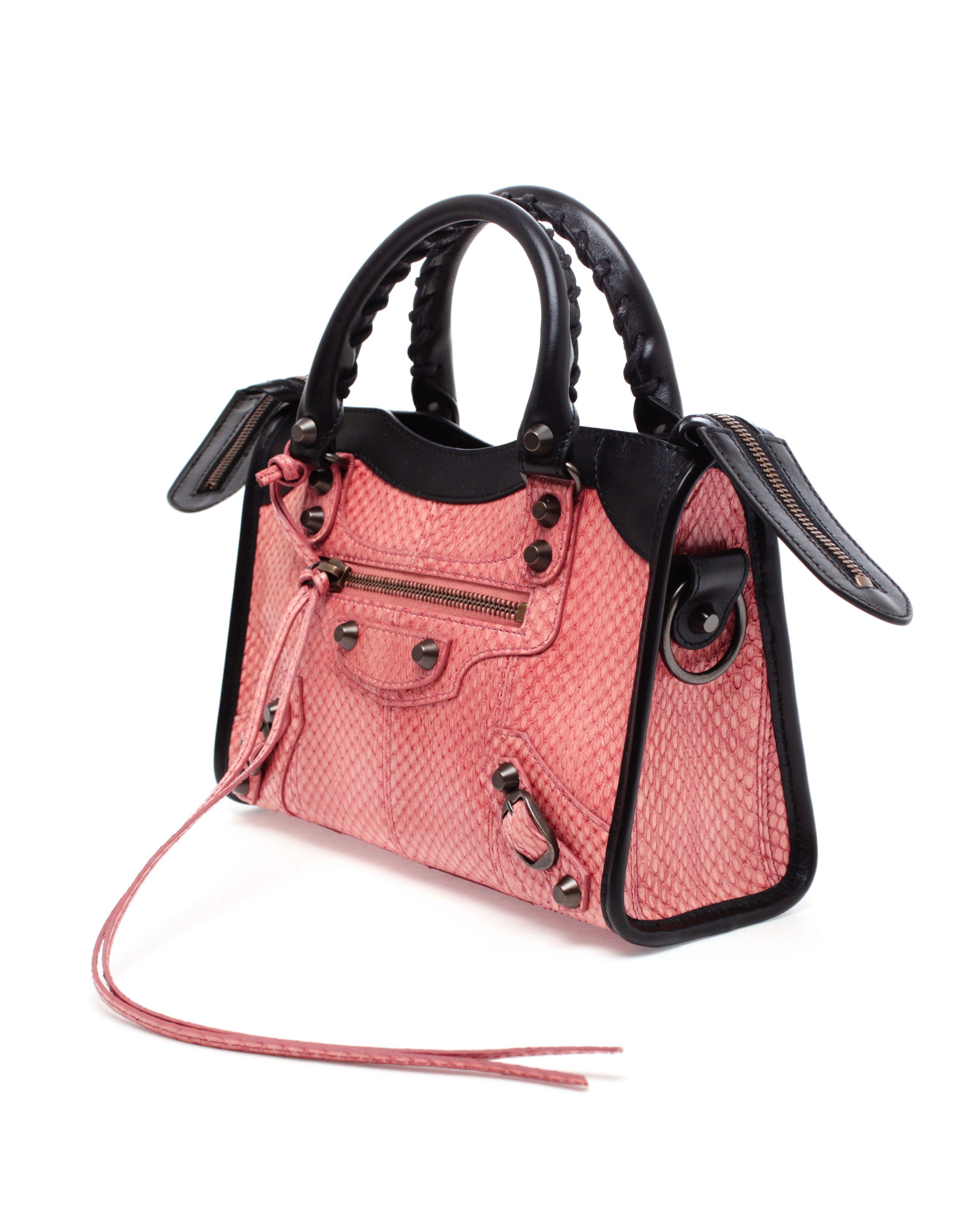 e202b32a8d8 Balenciaga    City  Mini Python and Leather Handbag.   My Style ...