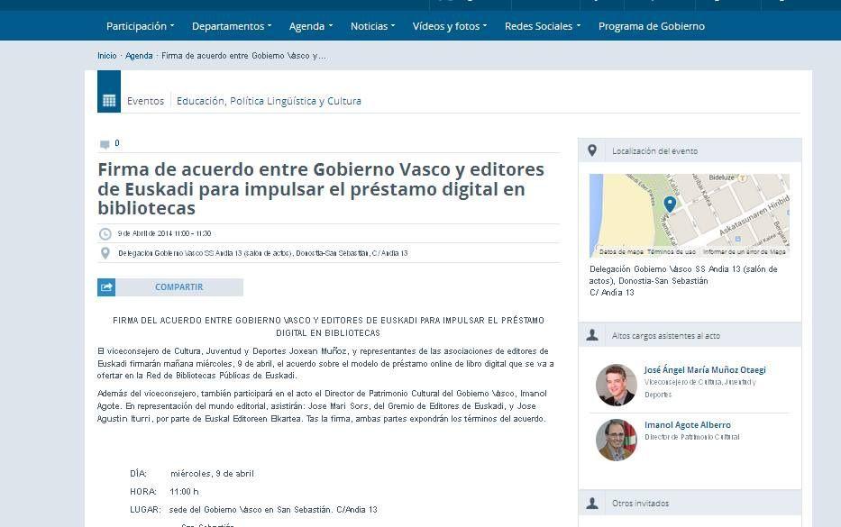 Prentsaurrekoaren Deialdia Convocatoria Rueda De Prensa Sobre El