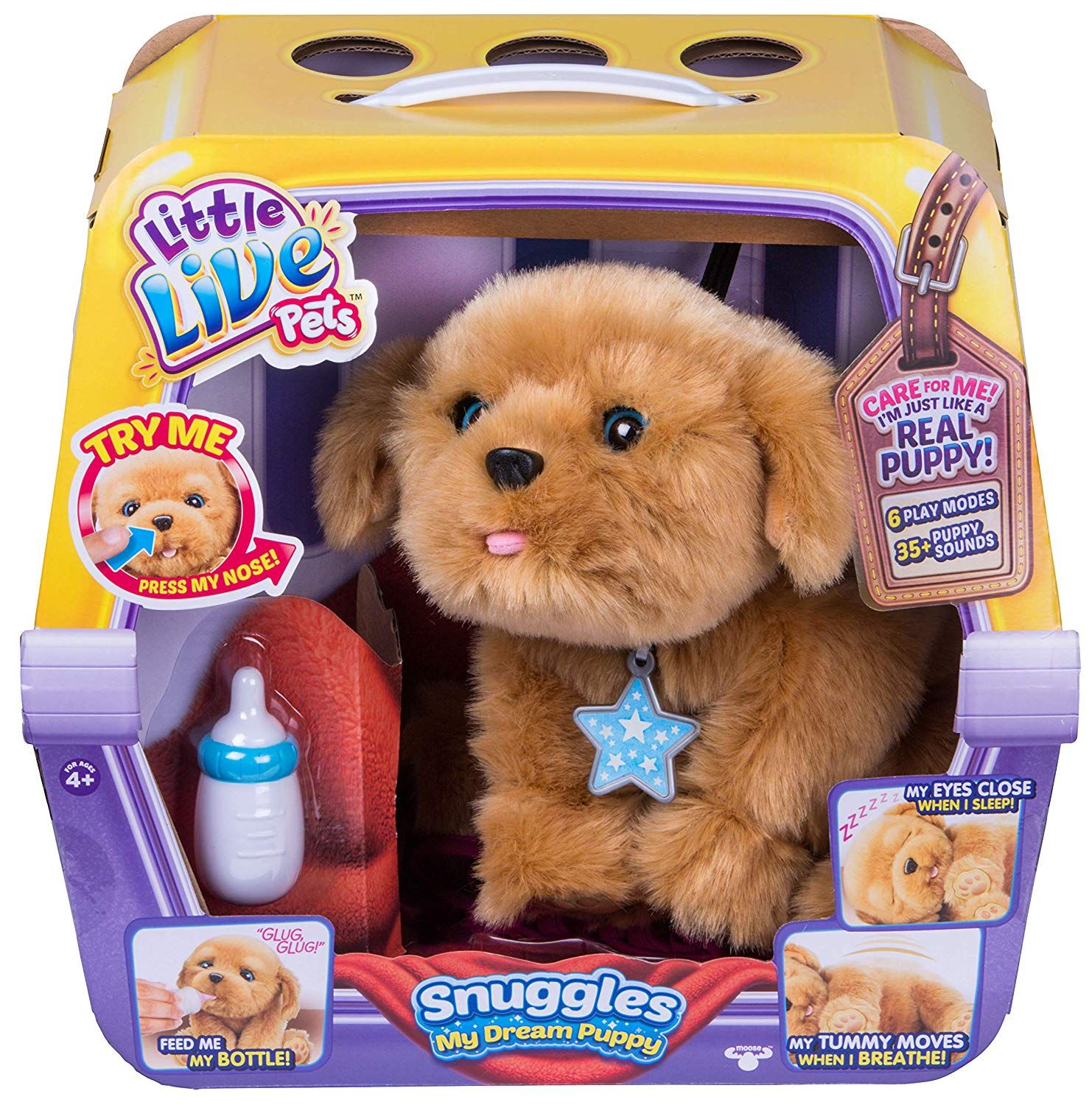 Amazon Com Little Live Pets Snuggles My Dream Puppy Little Live Pets Gateway Little Live Pets Puppy Soft Toy Pet Puppy