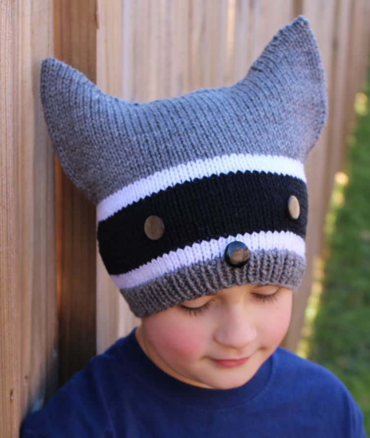c3494b6aeba Knitting Pattern for Raccoon Hat -  ad Included in a set of 6 animal hat  patterns. More pics on Etsy tba