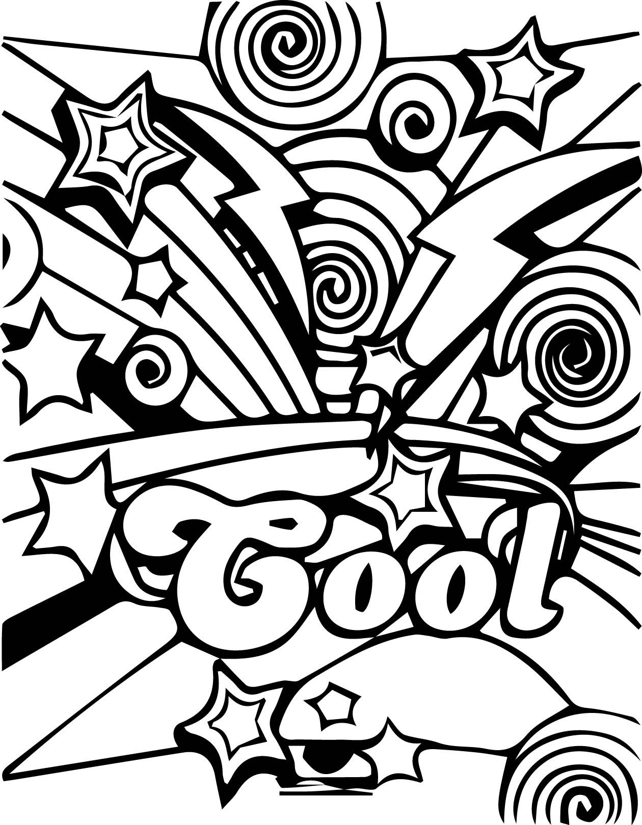 Cool Coloring Page Printable  Cool coloring pages, Printable