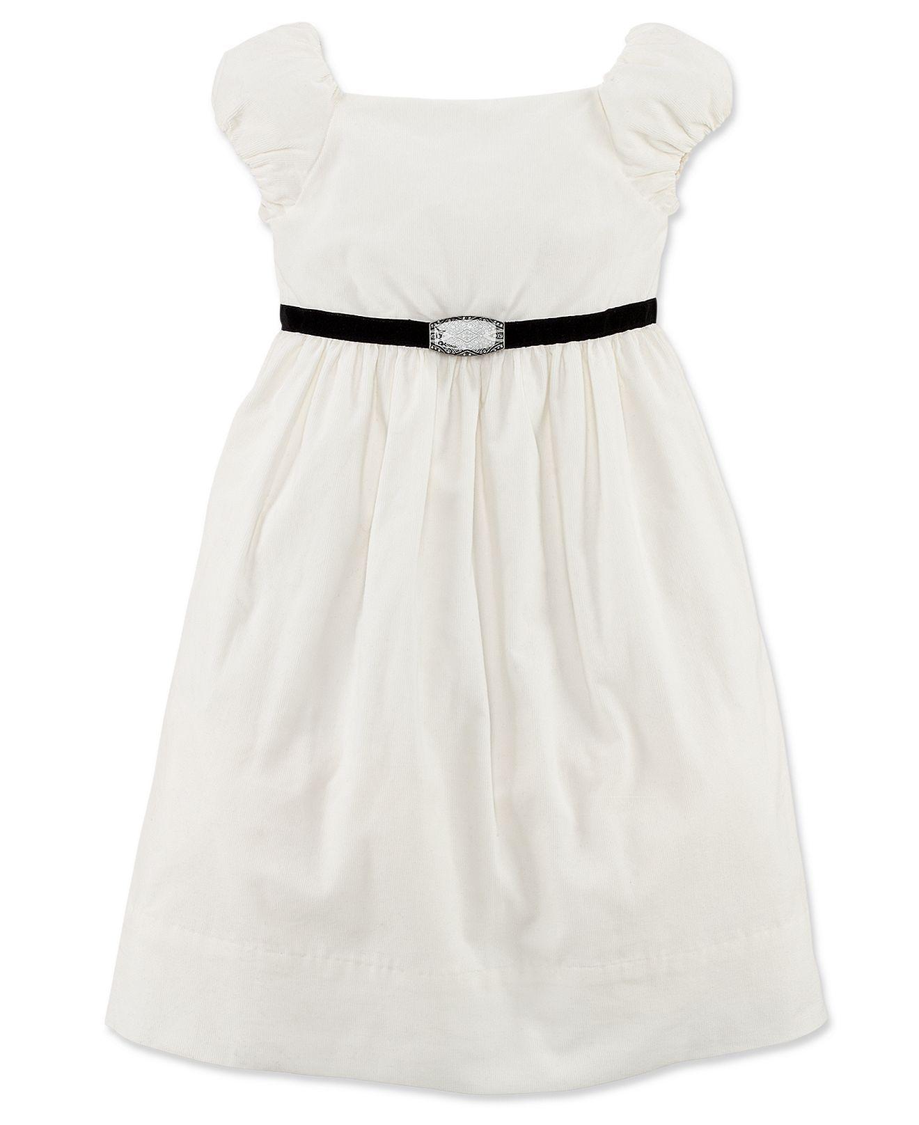 Ralph lauren girls dress little girls shortsleeve cord party dress