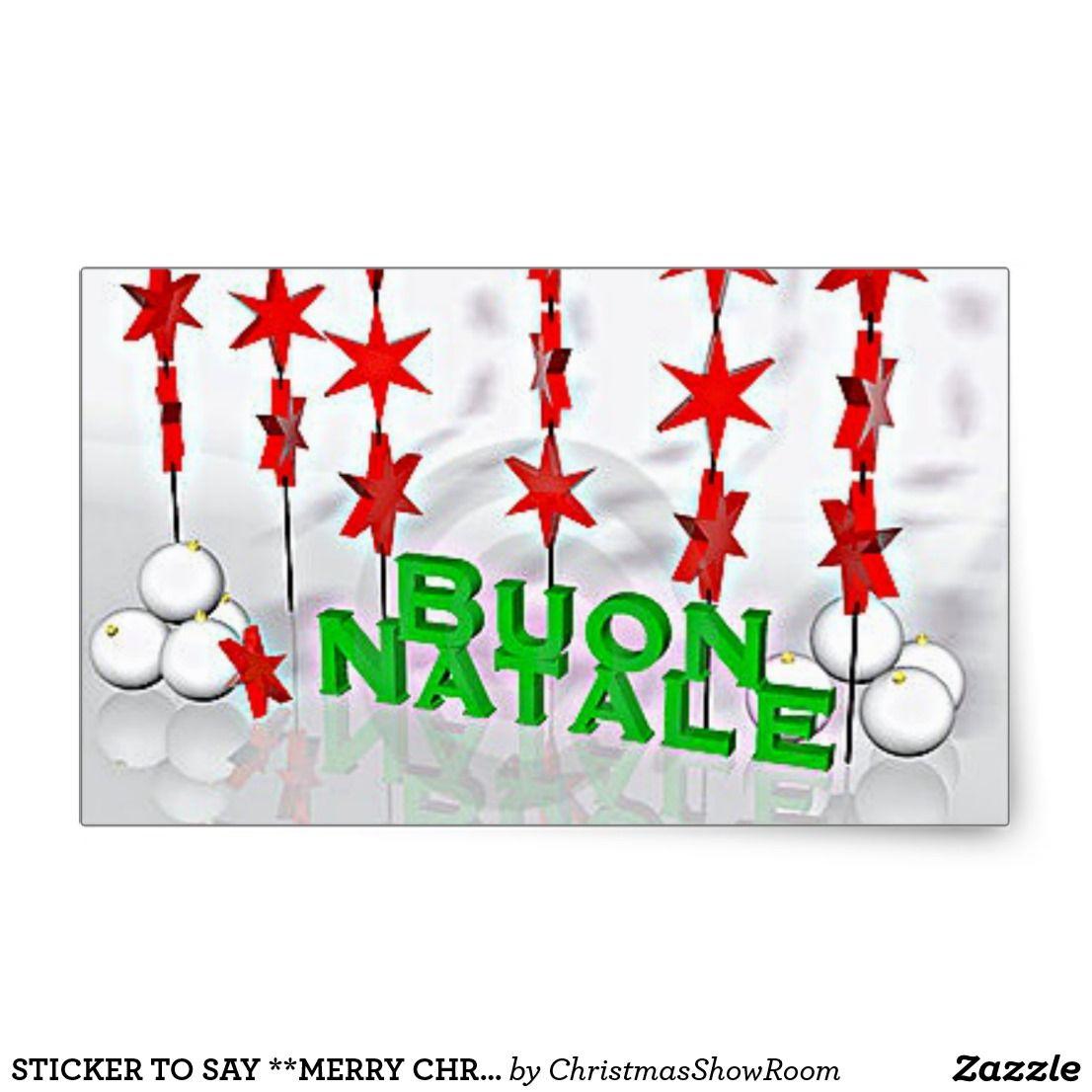 sticker to say merry christmas italian style