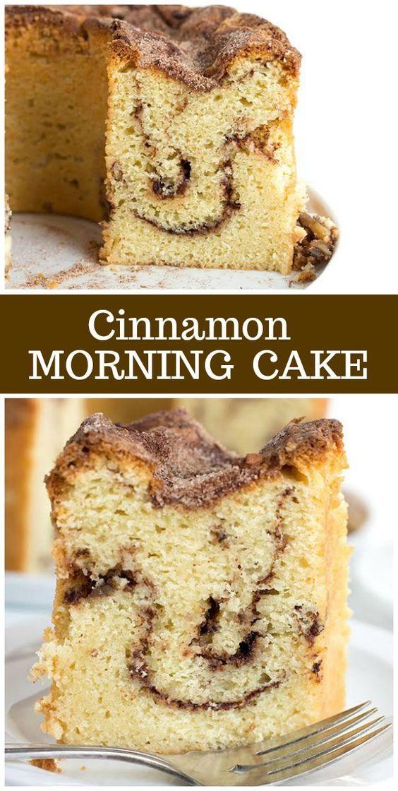Cinnamon Morning Cake Recipe Coffee cake recipes, Best
