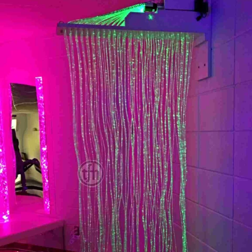 Hot Item Waterfall Fiber Optic Light With Crystal End Ty Lc Waterfall Lights Beaded Curtains Doorway Fiber Optic