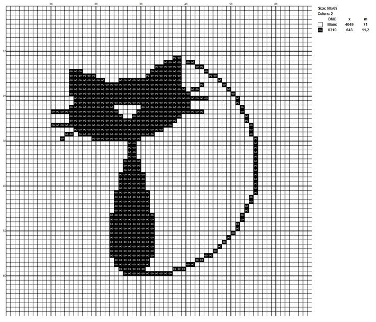Монохром кошки вышивка крестом схемы.