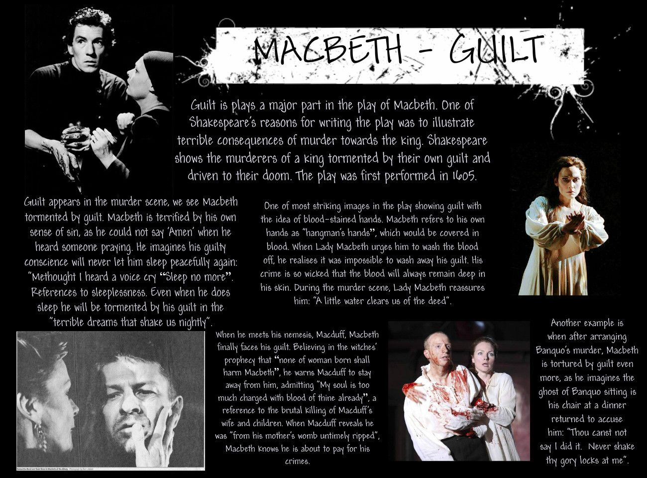 How did Macbeth feel about killing Banquo and Macduff's family?