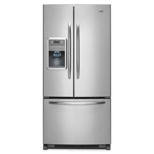 Ice O 21 8 Cu Ft 33 In Wide French Door Refrigerator In