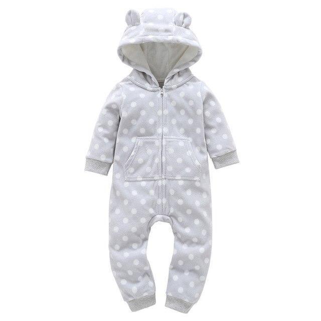 cb15a487c Autumn Winter Bebes Jumpsuit Baby Rompers Cartoon Hooded Newborns ...