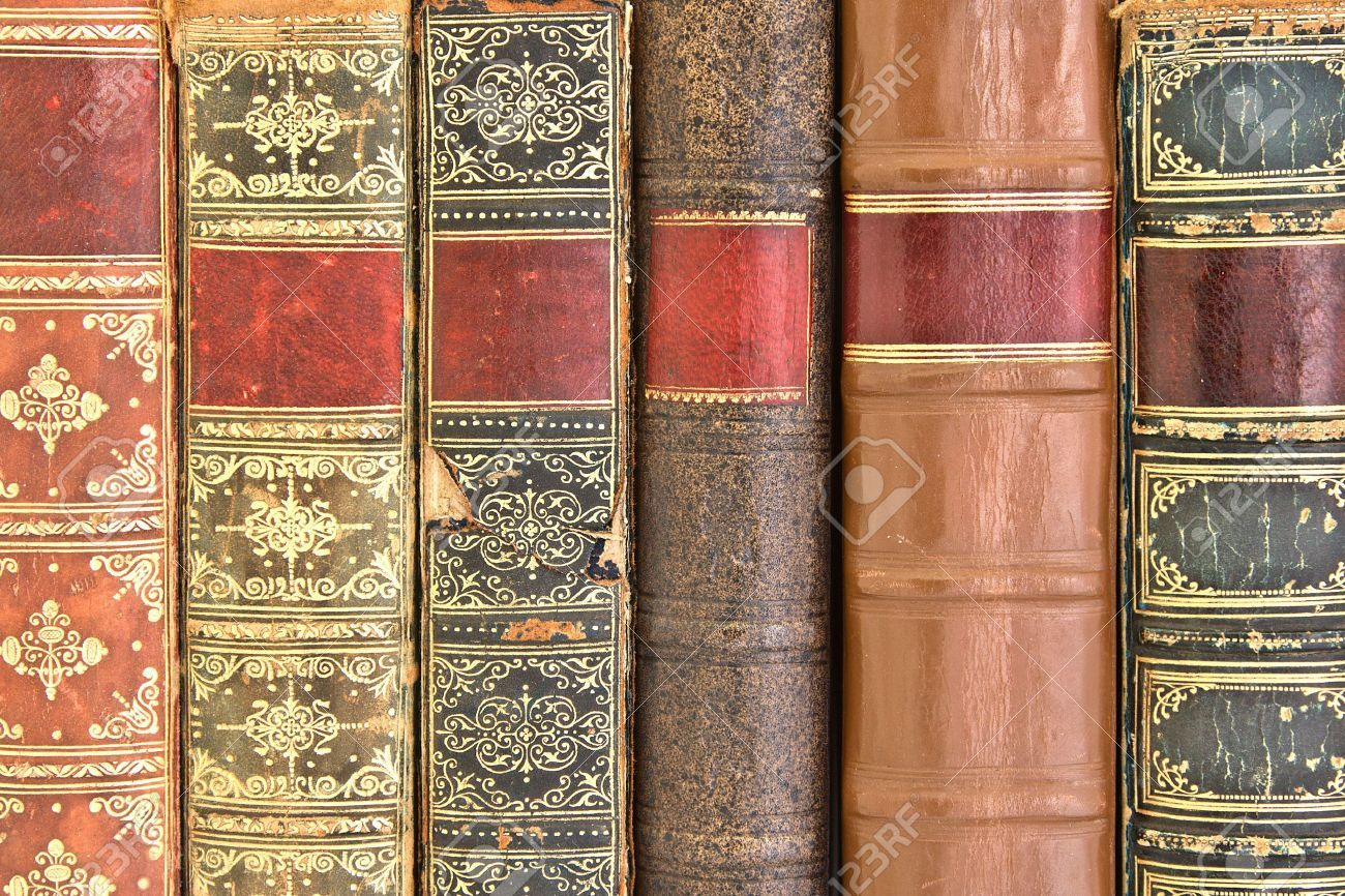 Old Leather Bound Book Spines Book Spine Leather Bound Books Bound Book