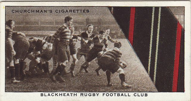 Cigarette cards 'rugby and ties' Blackheath by Frederic Humbert (www.rugby-pioneers.com), via Flickr