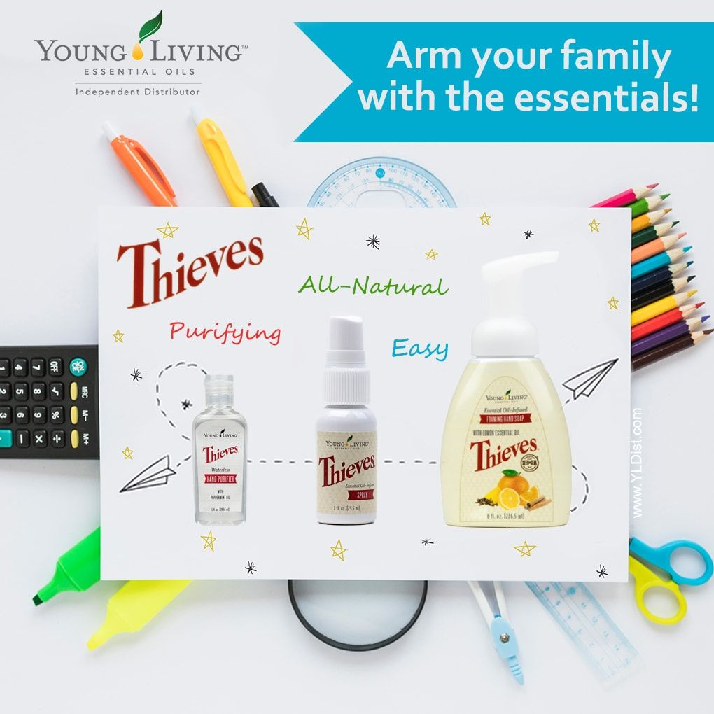 All The Thieves Products Are Needed For Back To School Hand