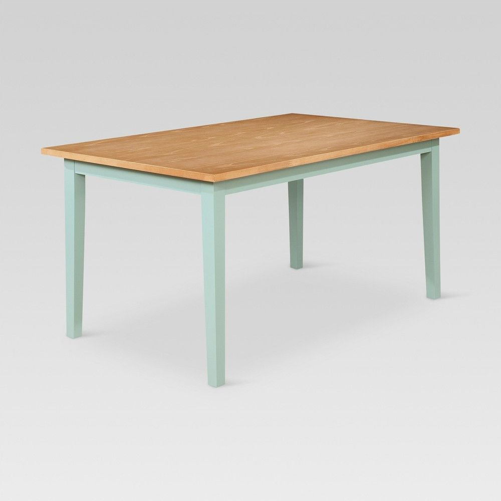 Carey 60 Tapered Leg Dining Table Pale Blue Natural