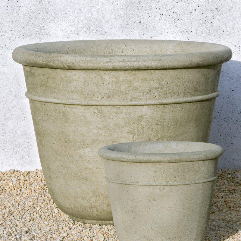Campania International Large Carema Cast Stone Planter Simplyplanters Com Large Garden Planters Planters Stone Planters