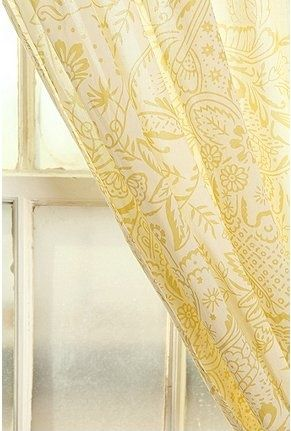 Pale Yellow Curtains