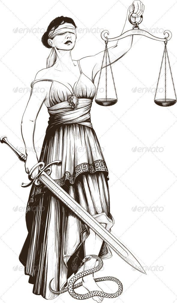 Symbol Of Justice Femida Symbols Tattoo And Lady Justice
