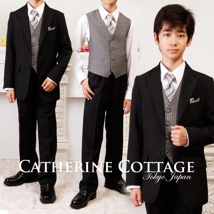 d14be94379b1d 激安セール☆男の子スーツ ベスト付き 6点 セットアップ 卒業式 フォーマルスーツ 男児 子供