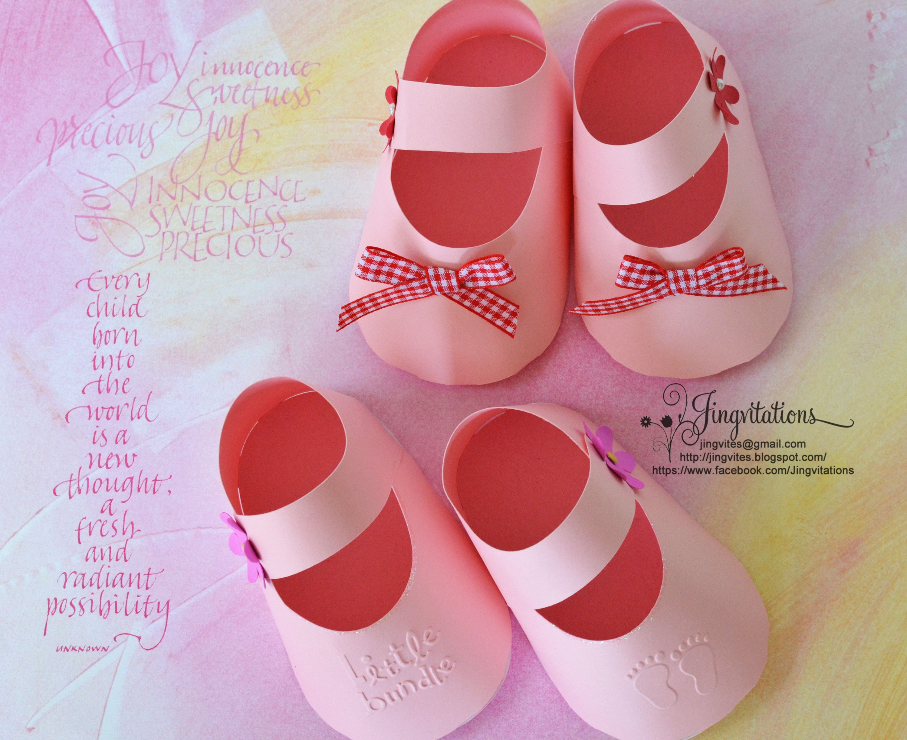 3D Invitations: Very Unique Baby Shoe Invites for Baby Shower ...