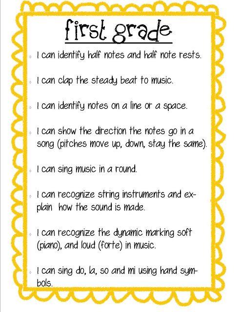 So La Mi Teaching Elementary Music Kindergarten/First Grade - lesson plan objectives