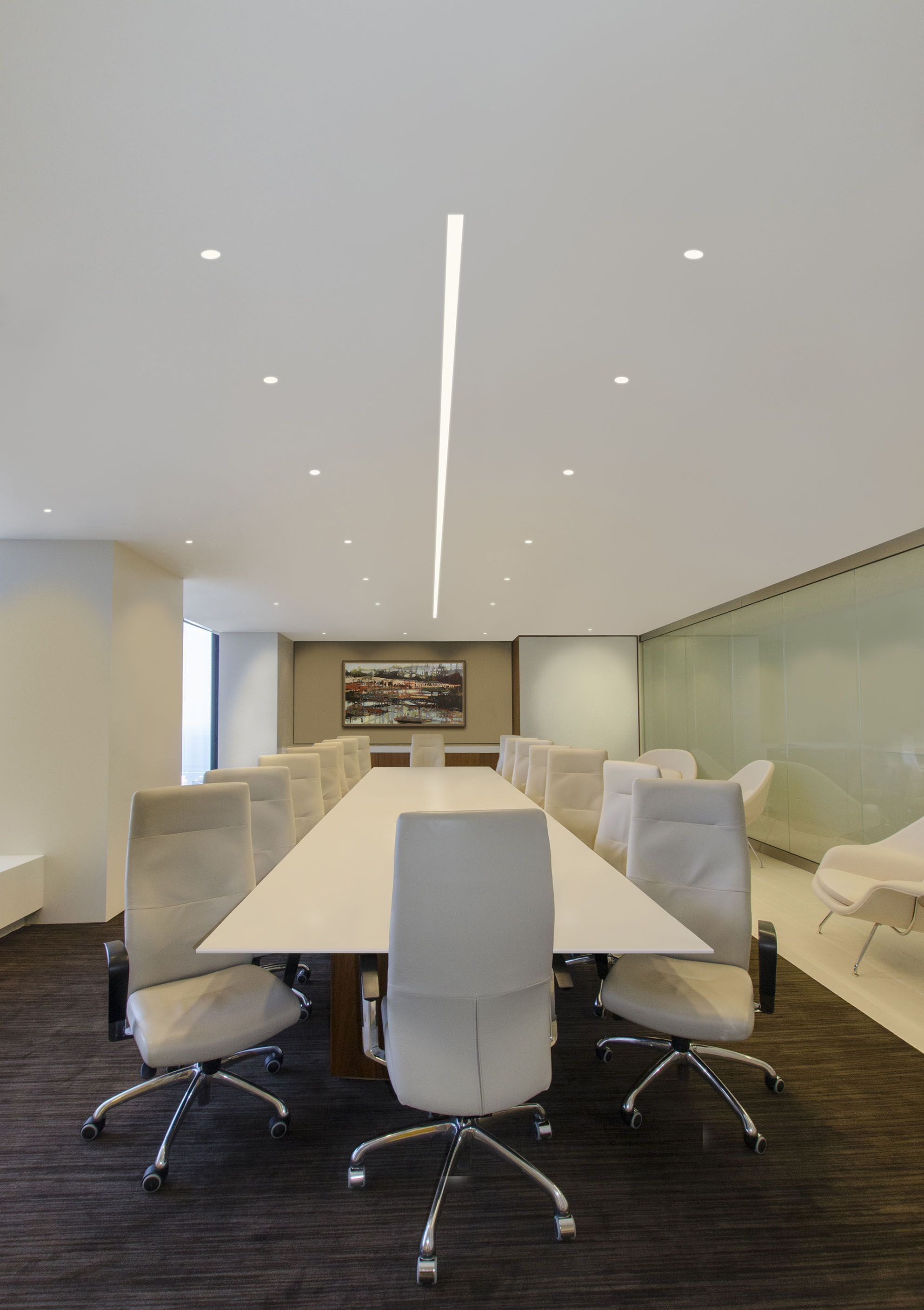 Conference Room Lighting Design: Modern Conference Room Lighting Idea