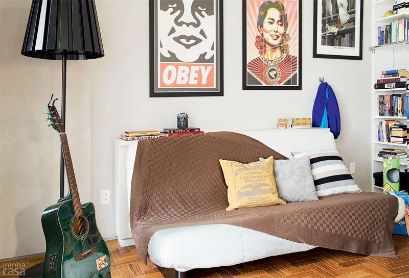 Apartamento para morar e trabalhar tem até cama suspensa - Casa