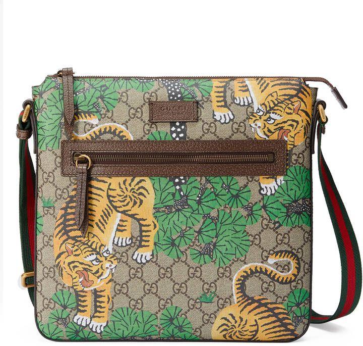 b0f69046afa9 Gucci Bengal GG Supreme messenger | Mens Messenger Bags | Gucci ...