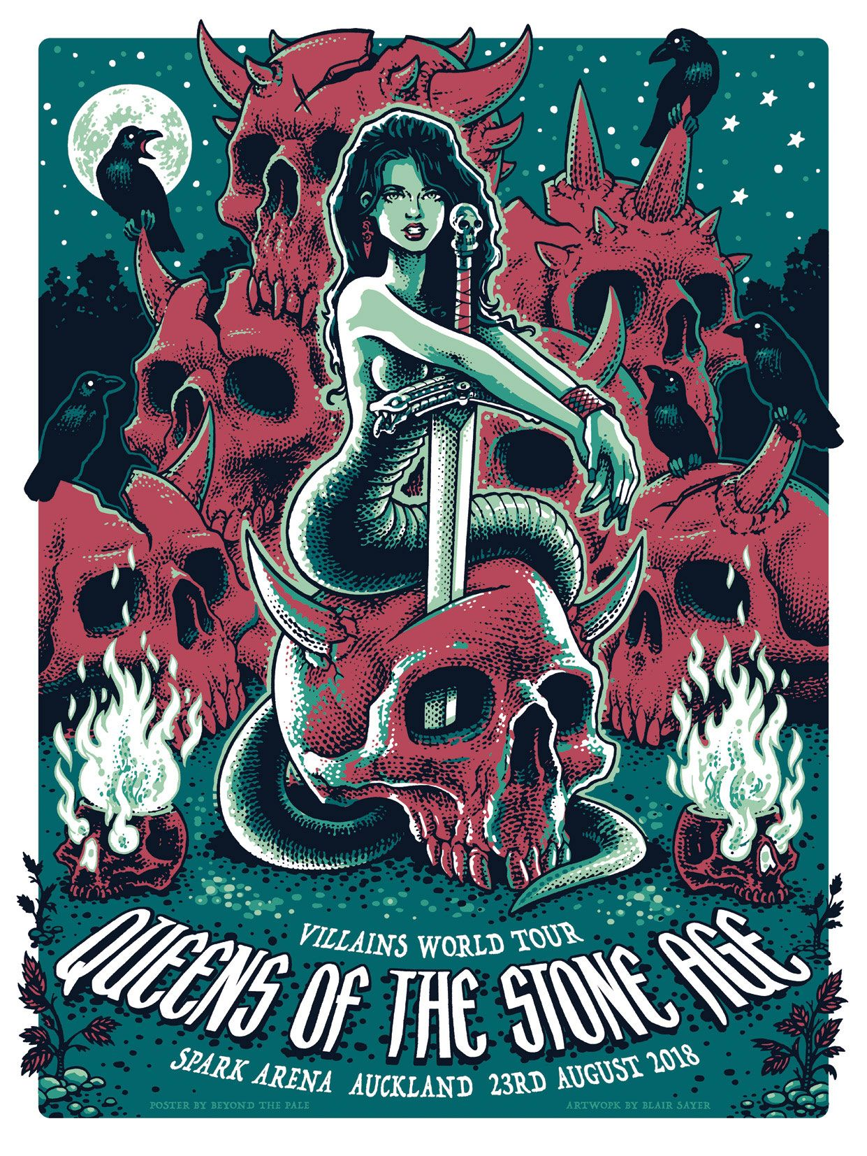 queens of the stone age gig posters from beyond the pale