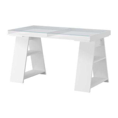 ikea desks and ikea must haves on pinterest black ikea glass top desk