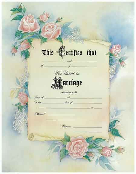 fancy floral certificate pink rose universal life church