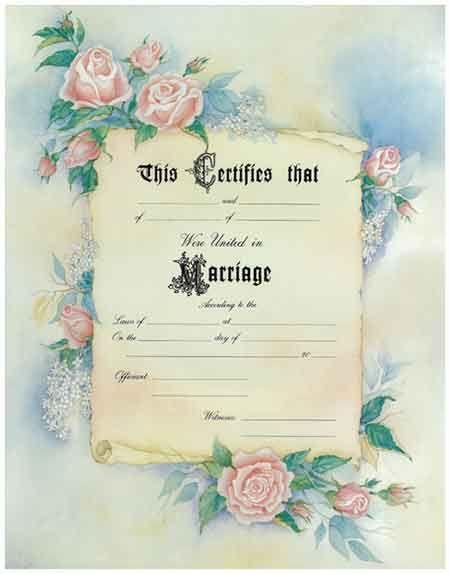 marriage certificate vintage rose graphics pinterest fancy