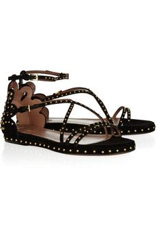 ac12c8ffa4ddd 0 Solange Mother s Day Azzedina Alaia Studded Suede Flat Sandals Yellow  Jumpsuit