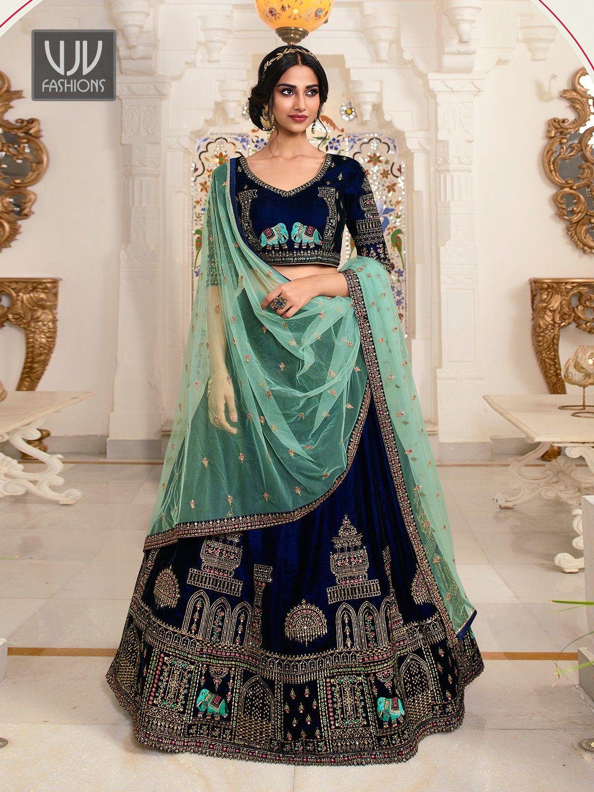 Wondrous Blue Color Fancy Fabric Lehenga Choli in 2020 ...