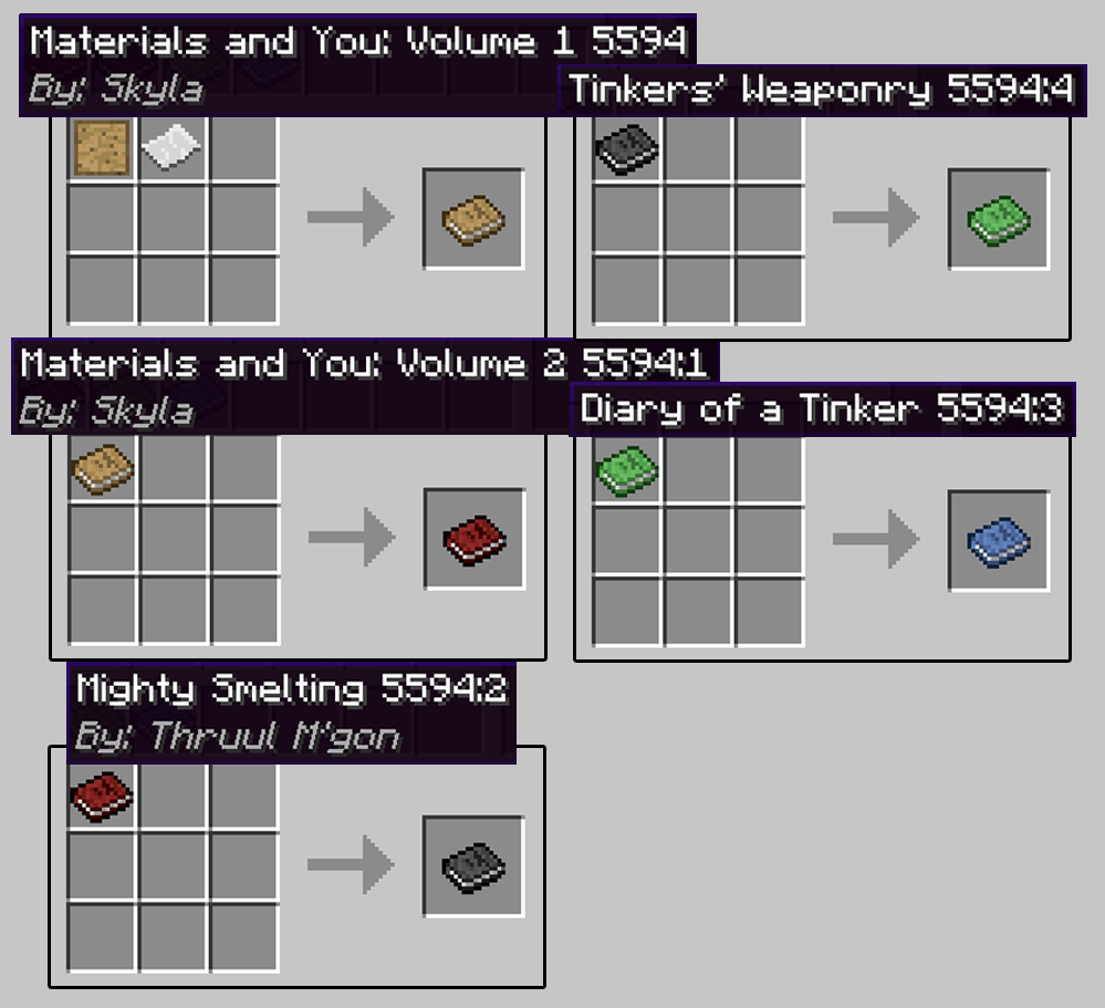 Tinkers Construct Mod Crafting Recipes 1 Minecraft Mods Tinker Minecraft Construction