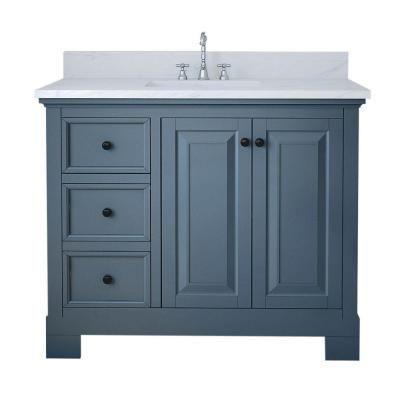 Alya Bath Richmond 42 In W X 22 In D Bath Vanity In Gray With