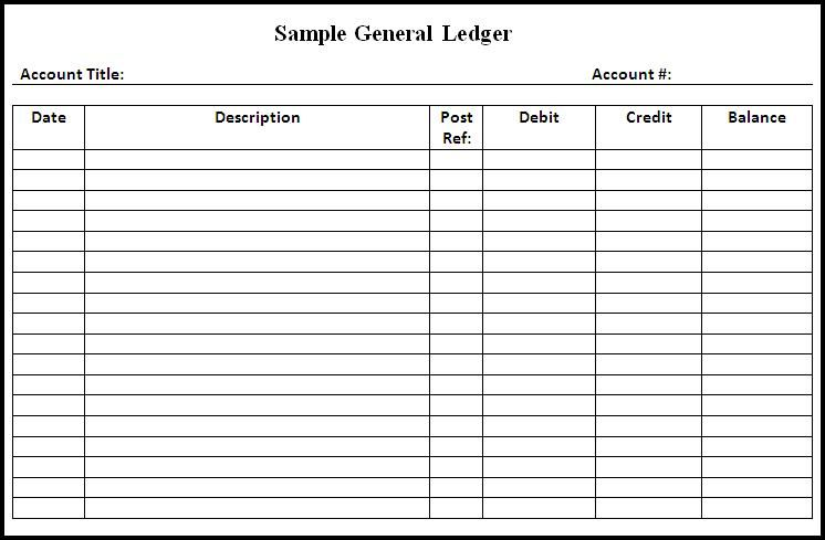photograph about Printable Ledger Page called ledger sheet templates -