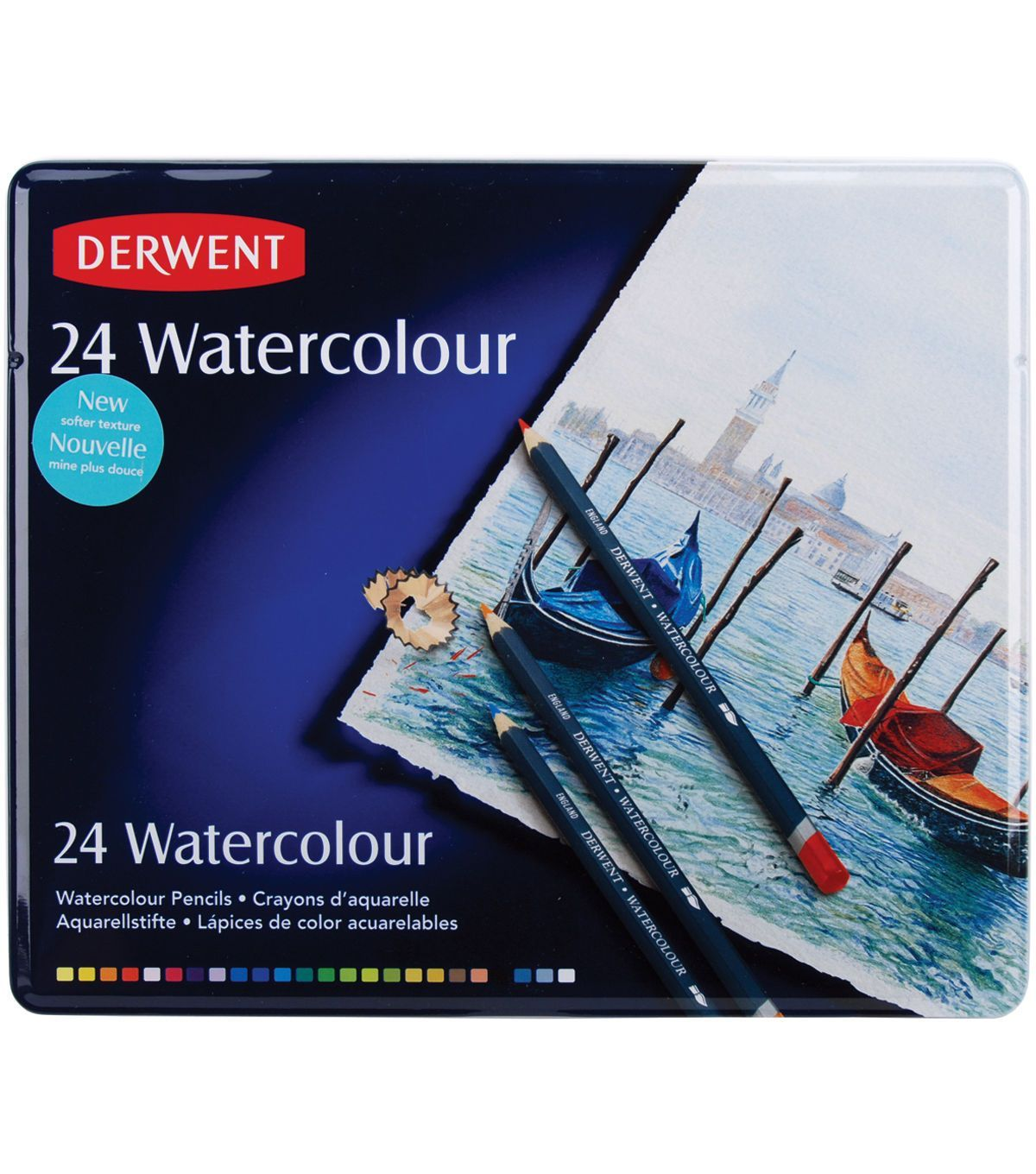 Derwent Water Color Pencil Tin 24pk Watercolor Pencils Derwent