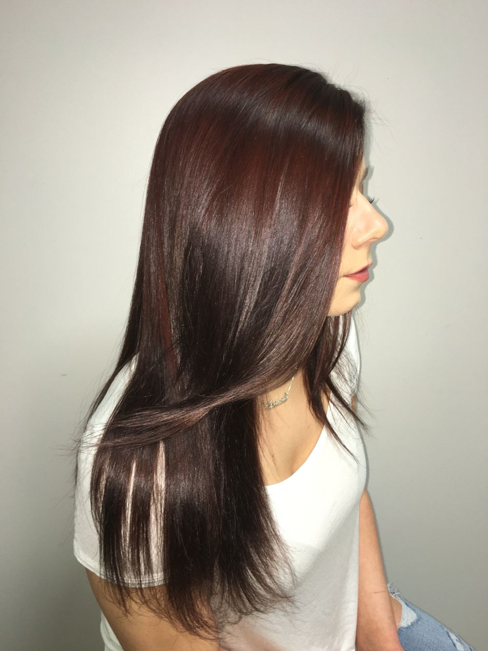 Burgundy Hair With Caramel Highlights Gold Color About Dye Oceasana